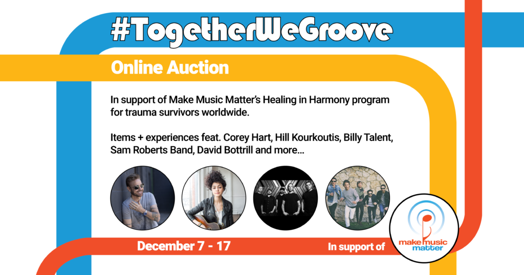 #TogetherWeGroove online auction for Make Music Matter