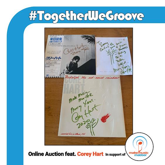 #TogetherWeGroove online auction Corey Hart